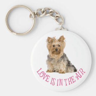 Love Yorkshire Terrier Puppy Dog Keychain