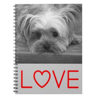 Love Yorkshire Terrier Puppy Dog Notebook Journal