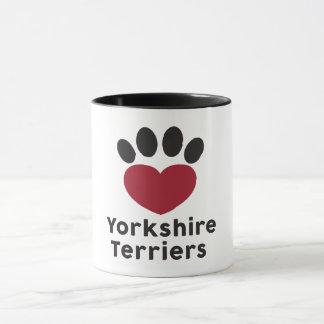 Love Yorkshire Terriers mug