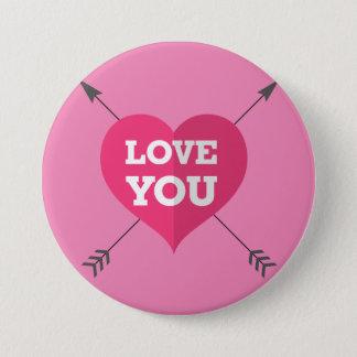 Love You 7.5 Cm Round Badge