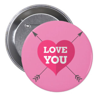 Love You 7.5 Cm Round Badge
