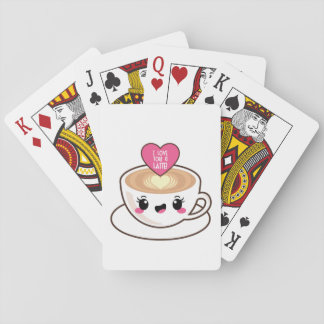 Love You A Latte EMoji Playing Cards