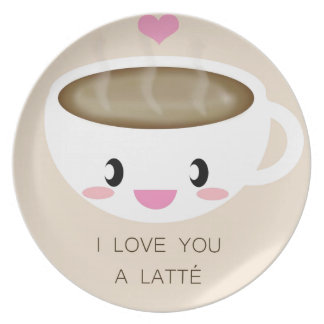 Love You a Latté Plate