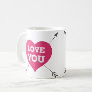 Love you arrow heart mug