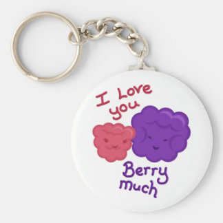 Love you berry much keychain