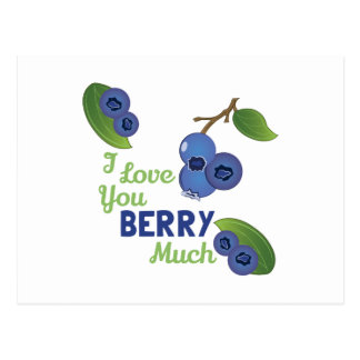 Love You Berry Much Postcard