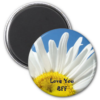 Love You BFF magnets White Daisy Flower Floral