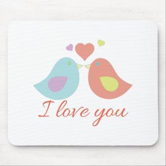 Love You Birds Mousepad
