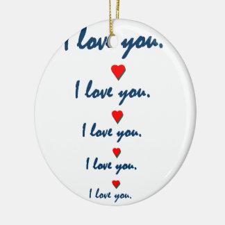 Love you ceramic ornament