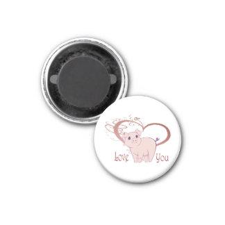 Love You, Cute Piggy Art  Magnet