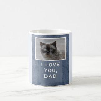 Love You, Dad Custom Cat Photo Mug (W)