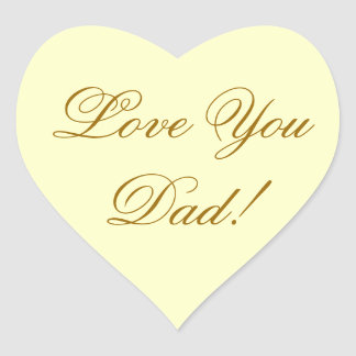 LOVE YOU DAD HEART STICKER