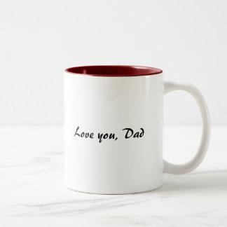 Love you, Dad Two-Tone Mug