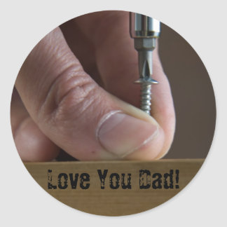 Love You Dad! Round Sticker