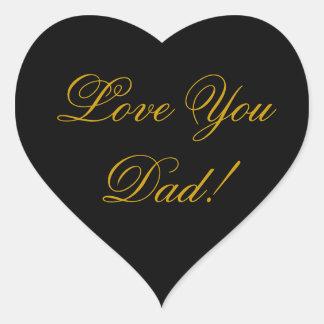 LOVE YOU DAD HEART STICKER