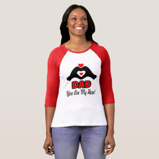 ❤↷Love You Dad, You are My Hero Classic Baseball T-Shirt