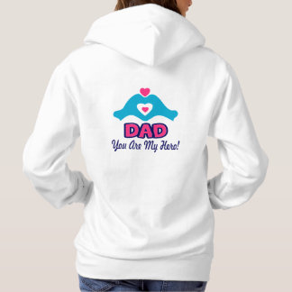 ❤↷Love You Dad, You are My Hero Classic Hoodie