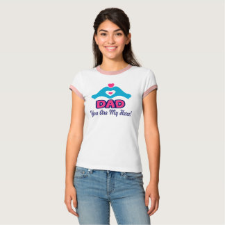 ❤↷Love You Dad, You are My Hero Vintage-inspired T-Shirt