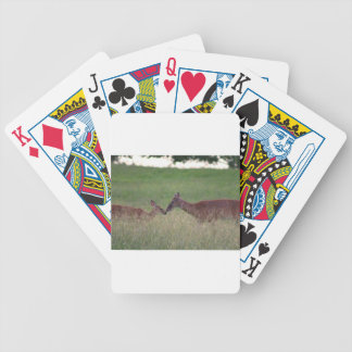 Love you deer bicycle playing cards