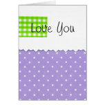 Love You Dots Greeting Cards
