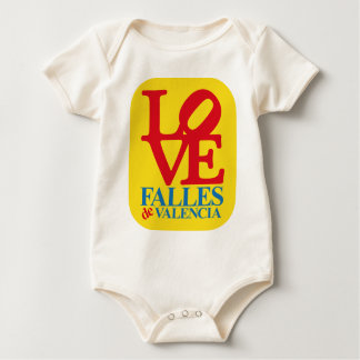 LOVE YOU FAIL YELLOW STAMP BABY BODYSUIT