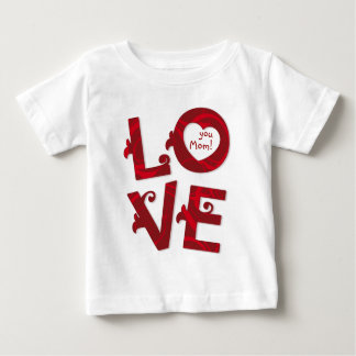 LOVE You Floral Letters baby tshirt