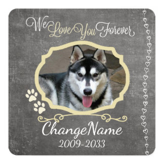 Love You Forever Dog Memorial Keepsake Card