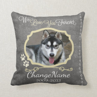 Love You Forever Dog Memorial Keepsake Cushion