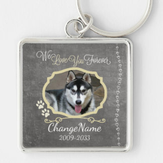 Love You Forever Dog Memorial Keepsake Key Ring