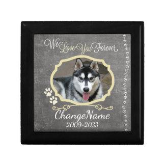 Love You Forever Dog Memorial Keepsake Small Square Gift Box