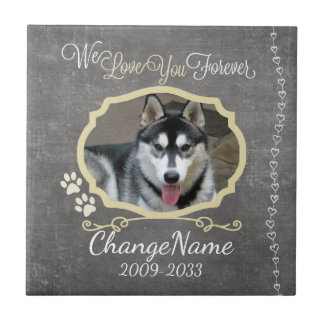 Love You Forever Dog Memorial Keepsake Tile