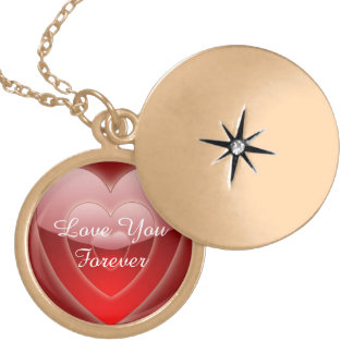 Love You Forever silverplated, gold finish LOCKET