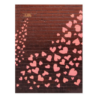 Love You Graffiti Street Art Postcard