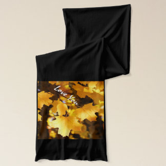 Love You Grandma! Gifts Scarf Yellow Autumn Leaves