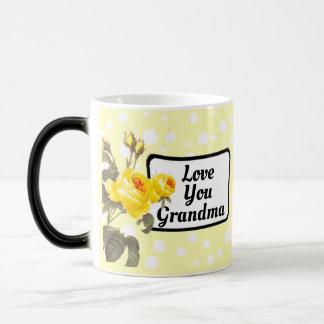 Love You Grandma Yellow Polka Dotted Coffee Mug