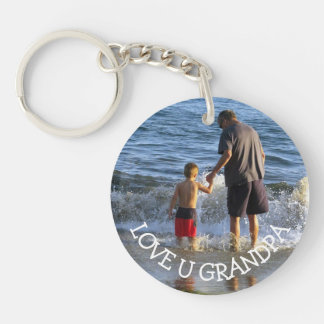 Love You Grandpa Personalized Photo Key Chain