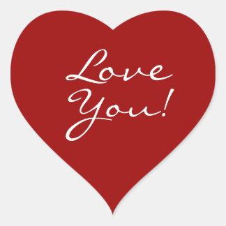 Love You Heart Heart Sticker