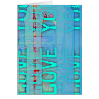 Love you in Blue - St valentine's Day Greeting Card