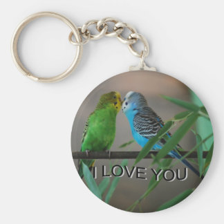 love you keets basic round button key ring
