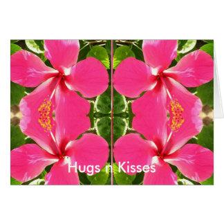 LOVE you KISS you Greeting Card
