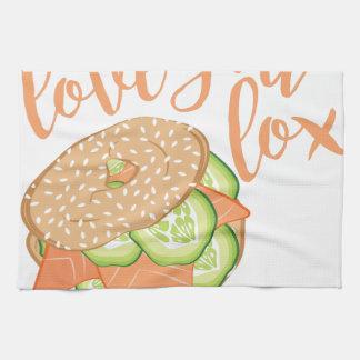 Love You Lox Hand Towel