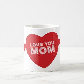 Love you Mom Heart Coffee Mug
