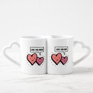 Love You Mom, Love You Dad. Coffee Mug Set