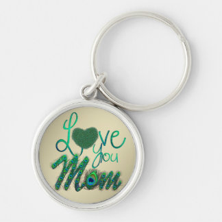 Love you mom mother's day decorative text keychain