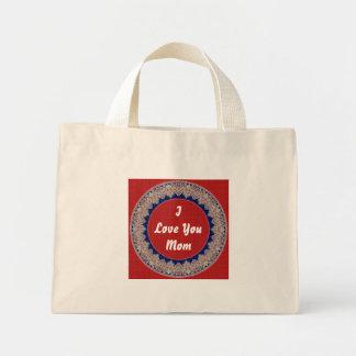 Love You Mom Mini Tote Bag