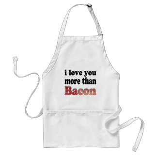 Love You More Than Bacon Aprons