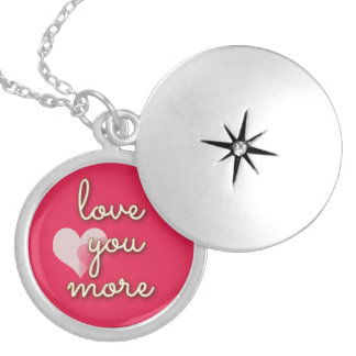 Love You More Words on a Charm Necklace