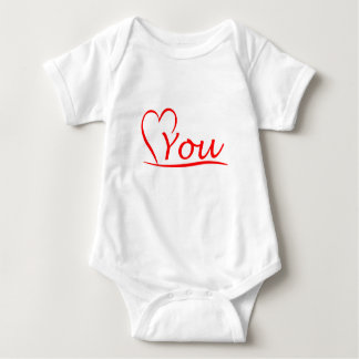 Love You, my heart is always open for you Baby Bodysuit