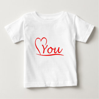 Love You, my heart is always open for you Baby T-Shirt