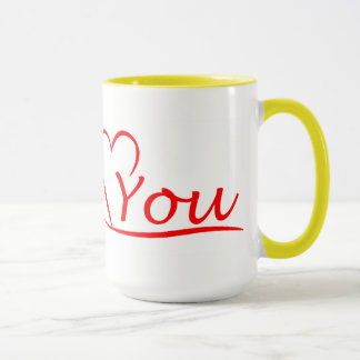 Love You, my heart is always open for you Mug